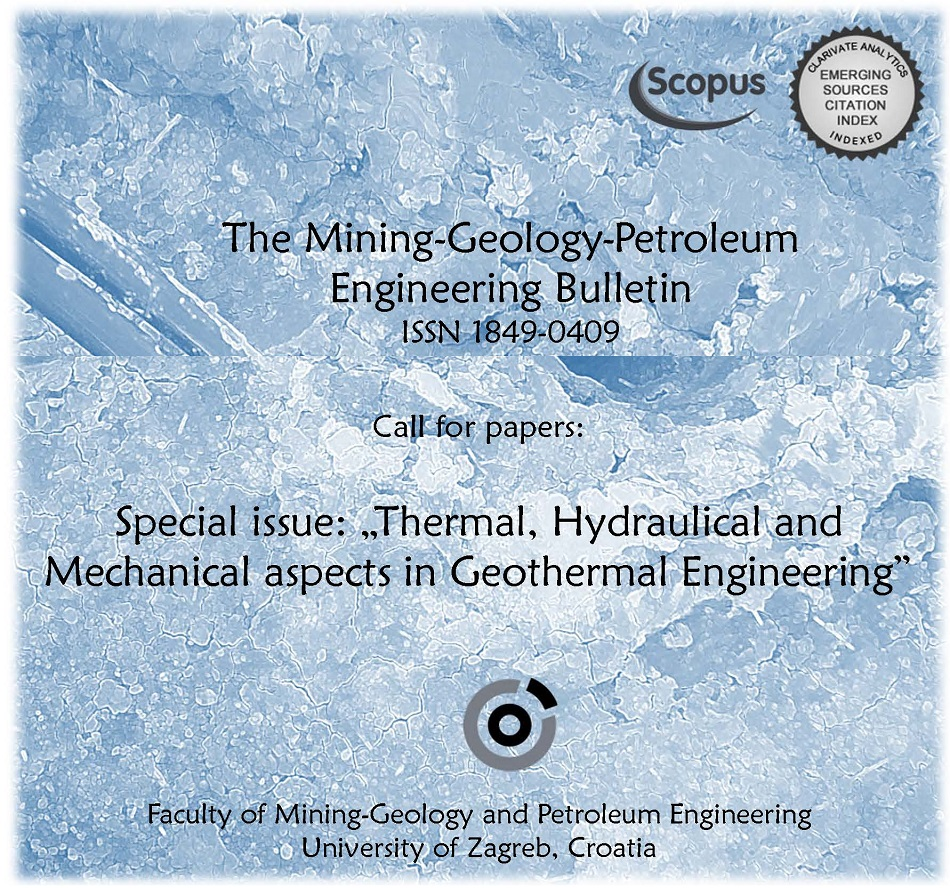 "Special Issue of the ""RGN zbornik"": Thermal, Hydraulical and Mechanical aspects in Geothermal Engineering"