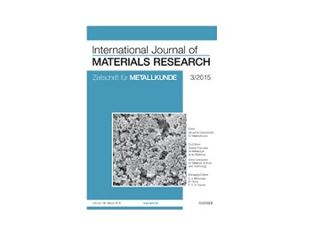Autori s RGN fakulteta objavili su rad u časopisu  INTERNATIONAL JOURNAL OF MATERIALS RESEARCH