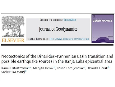 Autor s RGN fakulteta objavio rad u časopisu JOURNAL OF GEODYNAMICS